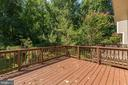 Deck off of Dining Room - 3892 MOHR OAK CT, FAIRFAX
