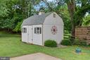 Spacious shed with barn door and tractor ramp - 20193 BROAD RUN DR, STERLING
