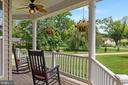 Covered trex porch cooled by 3 overhead fans - 20193 BROAD RUN DR, STERLING