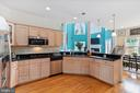 Kitchen view cooktop, microwave, sink, dishwasher - 20193 BROAD RUN DR, STERLING