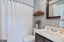 Upper level full bath attached to Bedroom 4 - 20193 BROAD RUN DR, STERLING