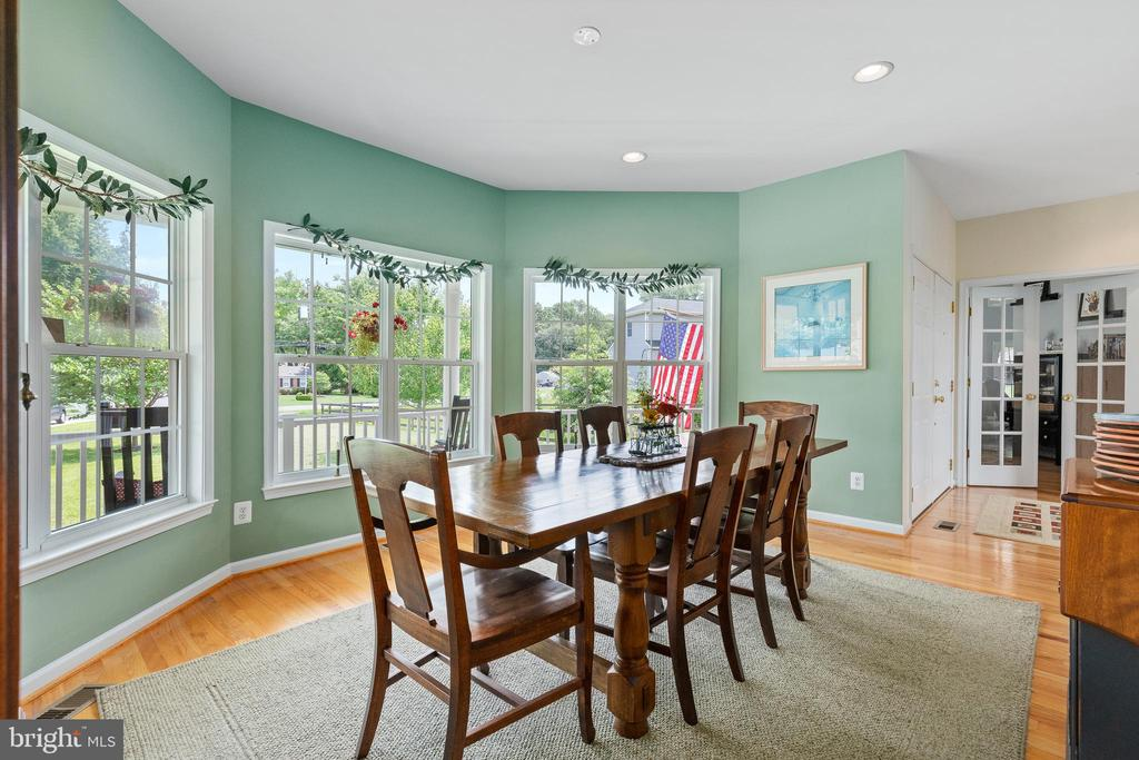 View of the Dining Room from entry foyer - 20193 BROAD RUN DR, STERLING