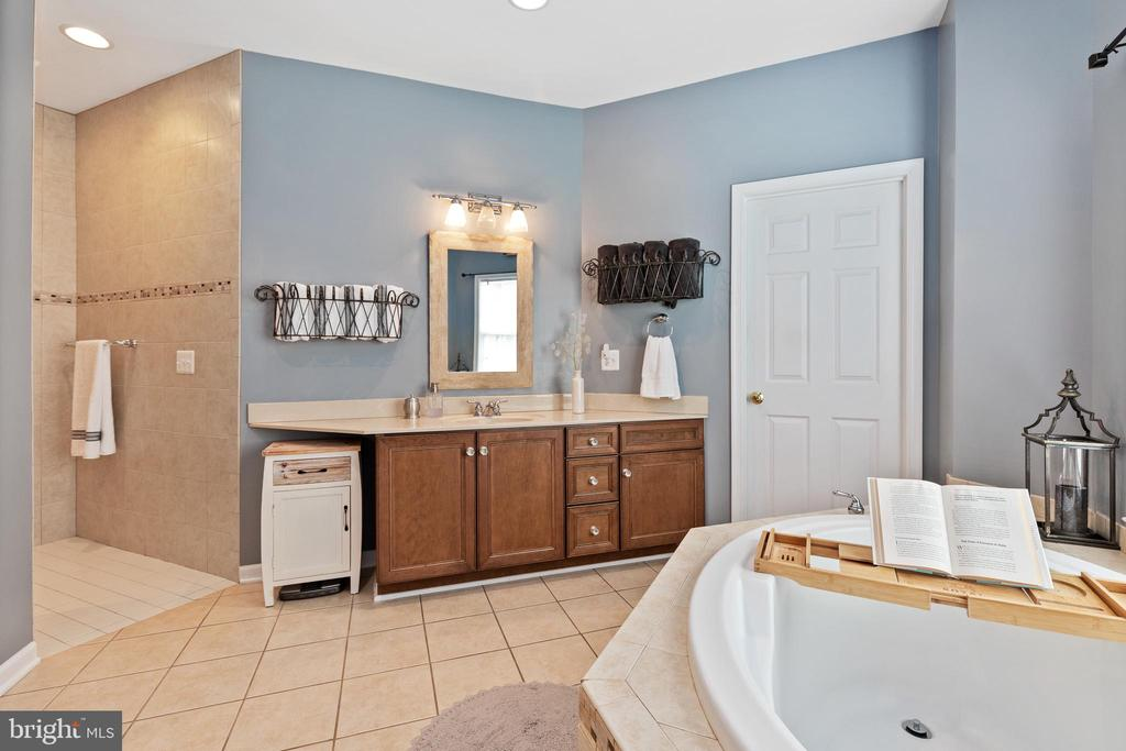 Master Bathroom with Roman shower, soaking tub - 20193 BROAD RUN DR, STERLING