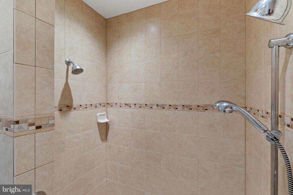 Master bath Roman shower w/ double shower heads - 20193 BROAD RUN DR, STERLING