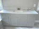 Separate Vanities in Master Bath - 6617 GREENLEAF ST, SPRINGFIELD