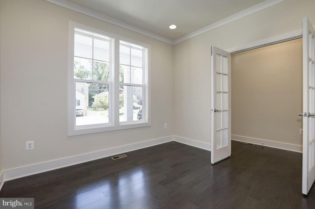 French doors opening to study. - 10106 DICKENS AVE, BETHESDA