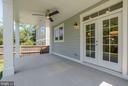 Outdoor covered patio, great for entertaining. - 10106 DICKENS AVE, BETHESDA