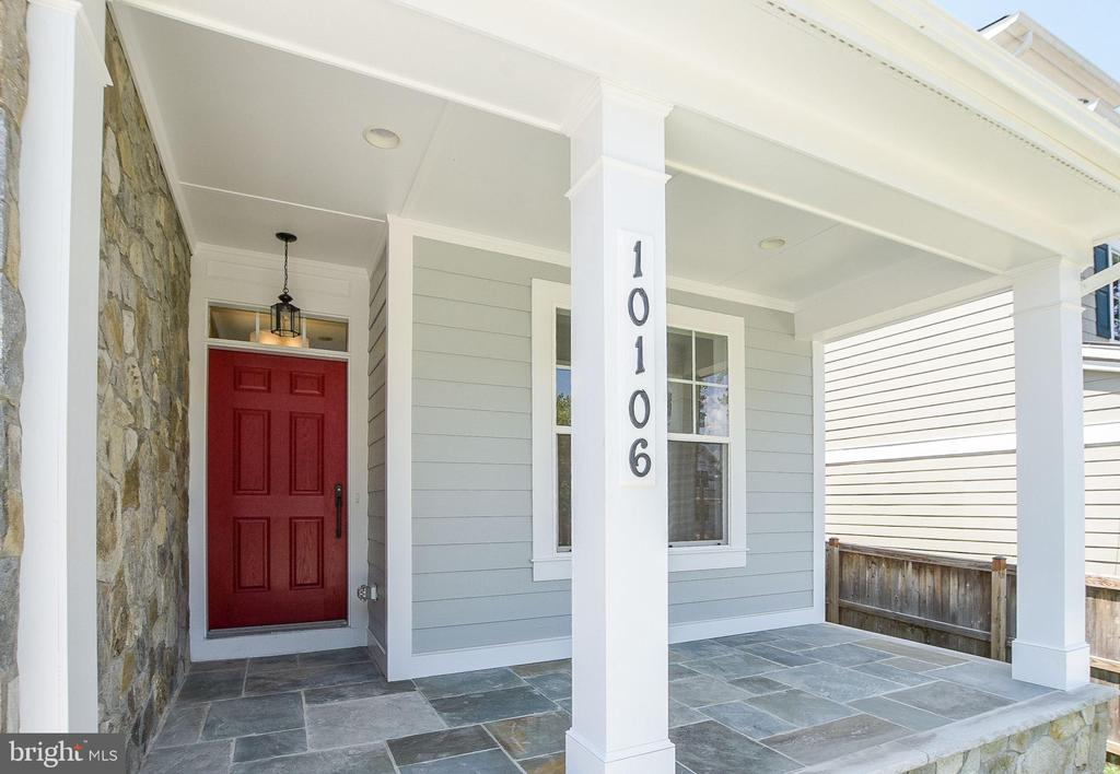 Front porch. - 10106 DICKENS AVE, BETHESDA