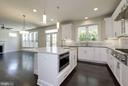Large kitchen island w/ secondary prep sink - 10106 DICKENS AVE, BETHESDA