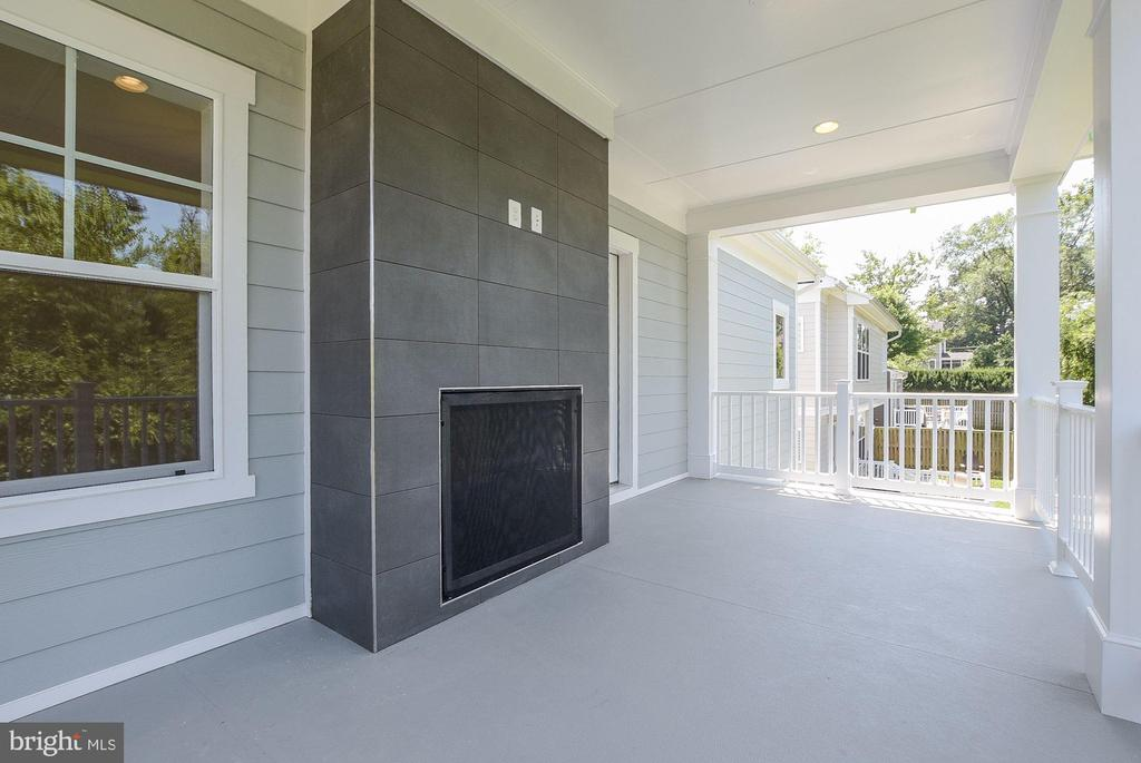 Master Bedroom Balcony features 2-way fireplace! - 10106 DICKENS AVE, BETHESDA