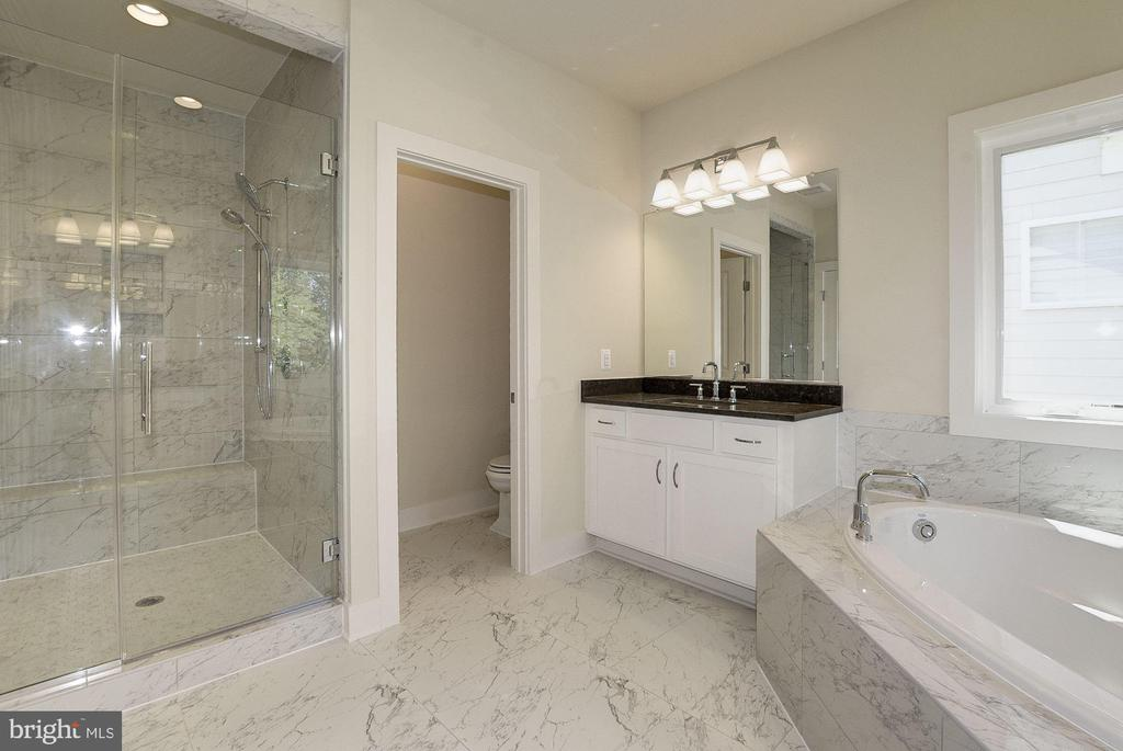 Master Bathroom with His & Her vanities. - 10106 DICKENS AVE, BETHESDA
