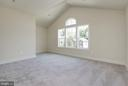 Bedroom #3 with high-arched ceilings. - 10106 DICKENS AVE, BETHESDA