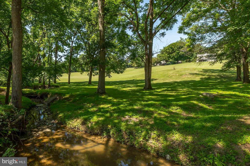 Creek with view of house - 23009 COBB HOUSE RD, MIDDLEBURG