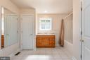 Apartment bath has two closets & shower tub combo - 2843 GARRISONVILLE RD, STAFFORD