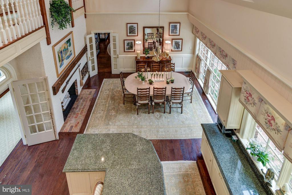 Overlook Down To Kitchen - 11610 HIGHLAND FARM RD, POTOMAC