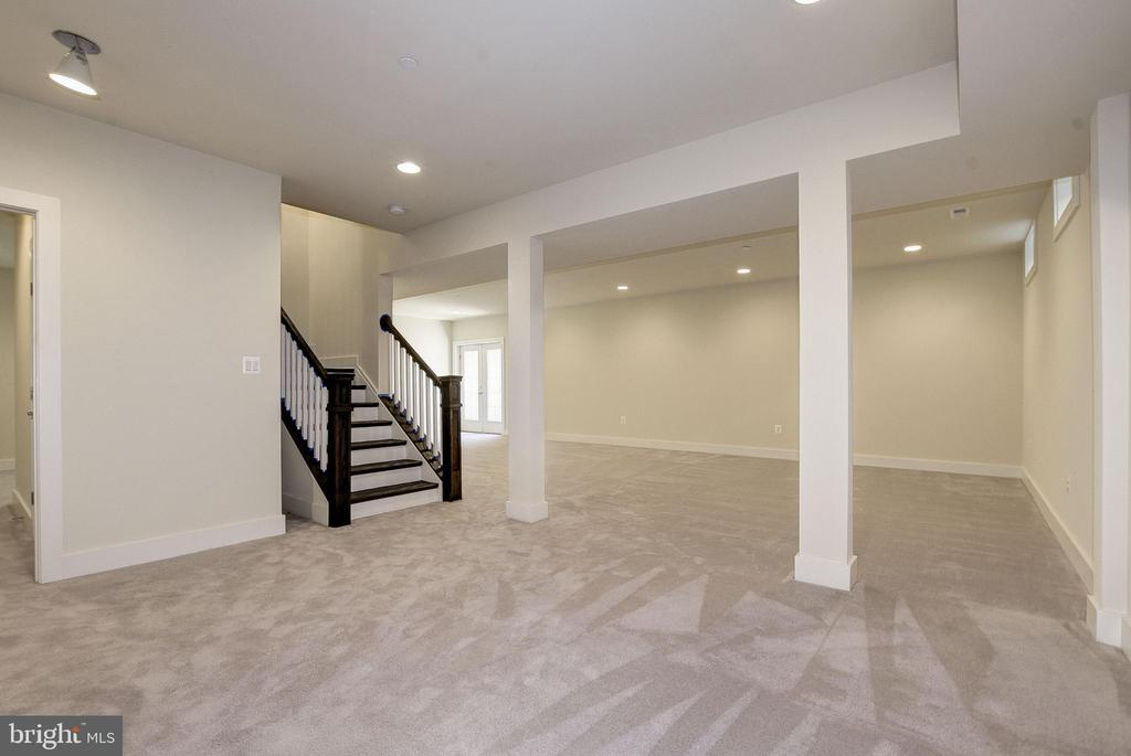 Expansive basement space. - 10106 DICKENS AVE, BETHESDA