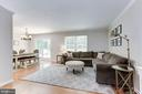 Living Room - Light, Bright, & Airy! - 12335 COLERAINE CT, RESTON