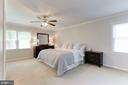 Master Bedroom - ABSOLUTELY MASSIVE! - 12335 COLERAINE CT, RESTON