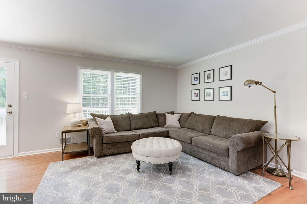 Living Room Features Hardwood Floors! - 12335 COLERAINE CT, RESTON