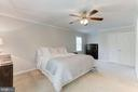 Master Bedroom Features Overhead Ceiling Fan! - 12335 COLERAINE CT, RESTON