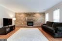 Family Rm - Brick Wall/Fireplace are Focal Points - 12335 COLERAINE CT, RESTON