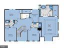 Upper level floor plan - 6912 WINTER LN, ANNANDALE