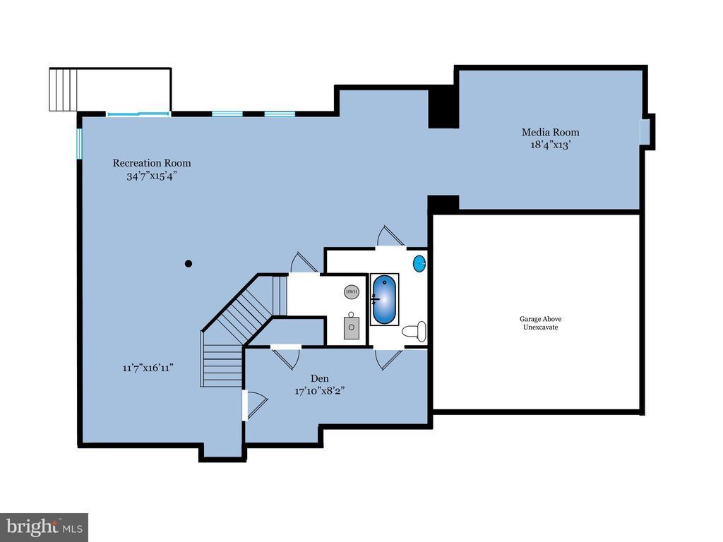 Lower level floor plan - 6912 WINTER LN, ANNANDALE