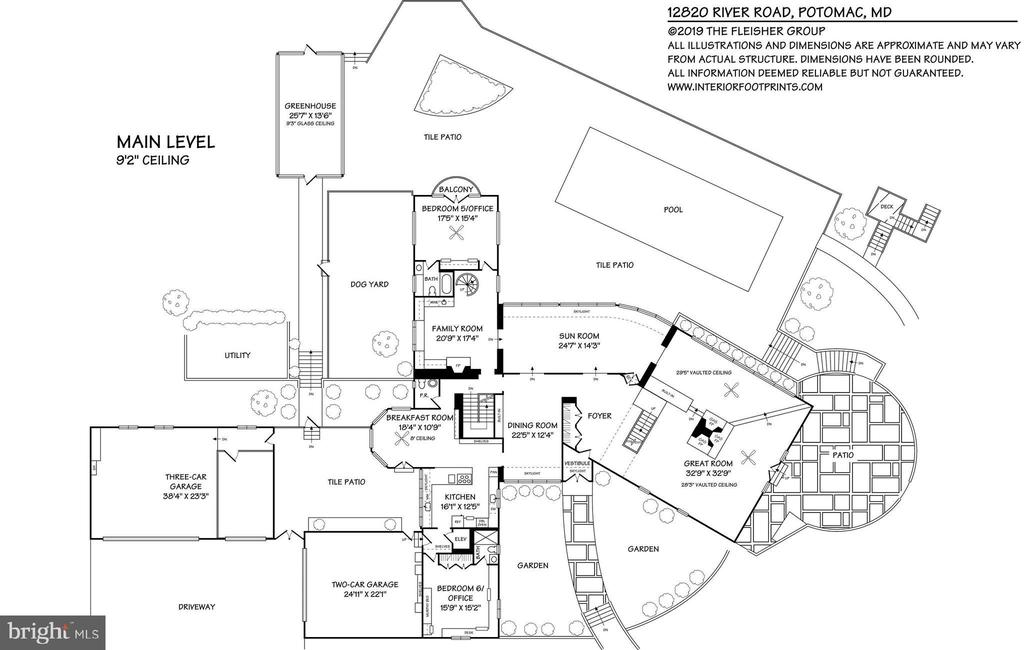 Main House Main Level Floorplan - 12820 RIVER RD, POTOMAC