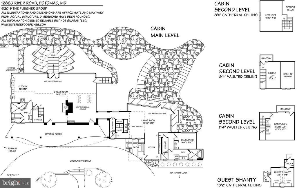 Cabin Floorplan - 12820 RIVER RD, POTOMAC