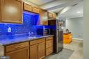 Basement Wet Bar w/changing light colors - 1911 MARTINA WAY, CULPEPER