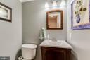 Updated Powder Room on Main Level - 12306 FOLKSTONE DR, HERNDON