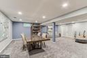 Large Rec Room with Newer Carper - 12306 FOLKSTONE DR, HERNDON