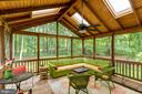 Screened in Porch Overlooks Trees on .66 Acre Lot - 12306 FOLKSTONE DR, HERNDON