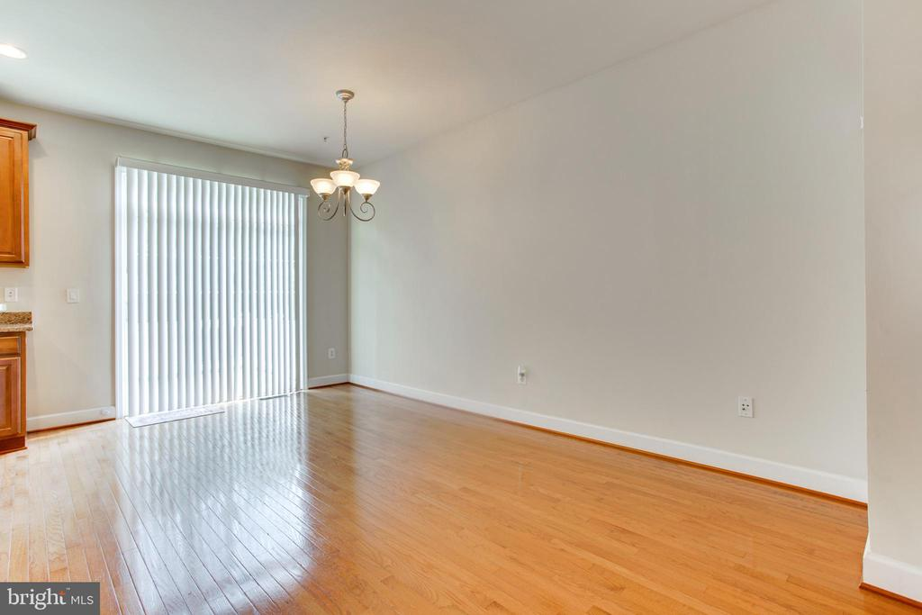 Dining room - Hardwood flooring - 525 ODENDHAL AVE, GAITHERSBURG