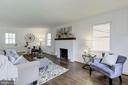 Family Room with Wood Burning Fireplace - 1745 BUCHANAN ST NE, WASHINGTON