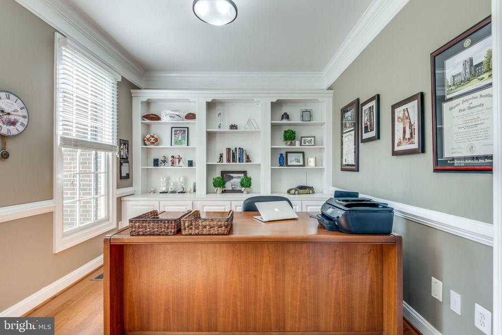 Main level library with built-ins. - 20439 FITZHUGH CT, POTOMAC FALLS