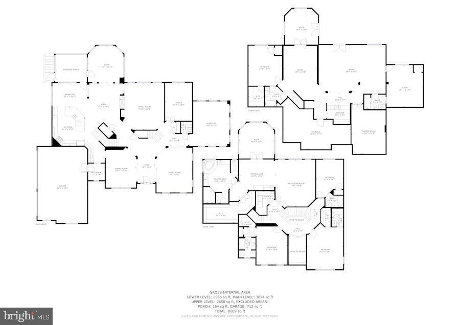 WHOLE HOUSE FLOOR PLAN - 9668 MAYMONT DR, VIENNA
