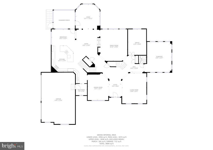 Main Level Floor Plan - 9668 MAYMONT DR, VIENNA