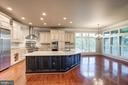 Large Kitchen Island - 9668 MAYMONT DR, VIENNA