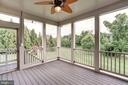 Screened In Porch Overlooking lots of greenery - 9668 MAYMONT DR, VIENNA