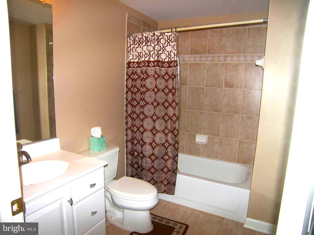 Lower level full ceramic bath - 22910 PEACH TREE RD, CLARKSBURG