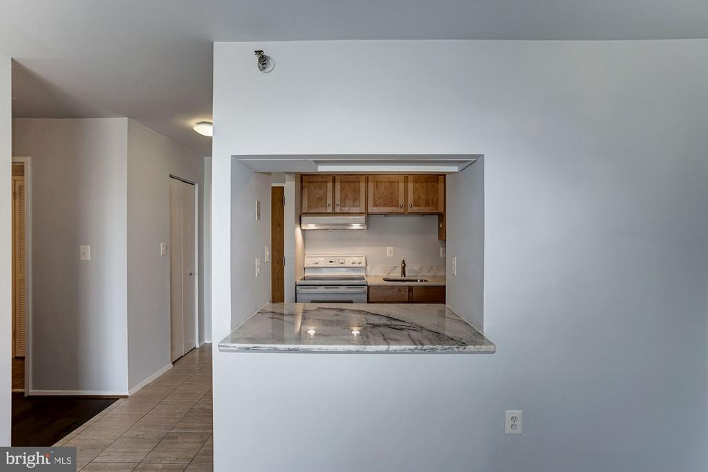 Pass-Through from Kitchen to Living Room - 1808 OLD MEADOW RD #1416, MCLEAN