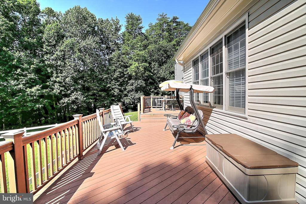 Back deck w/panoramic views of 5 acres! - 10121 COMMUNITY LN, FAIRFAX STATION