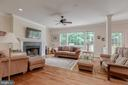Great room/family room with views of trees - 5621 GLENWOOD DR, ALEXANDRIA