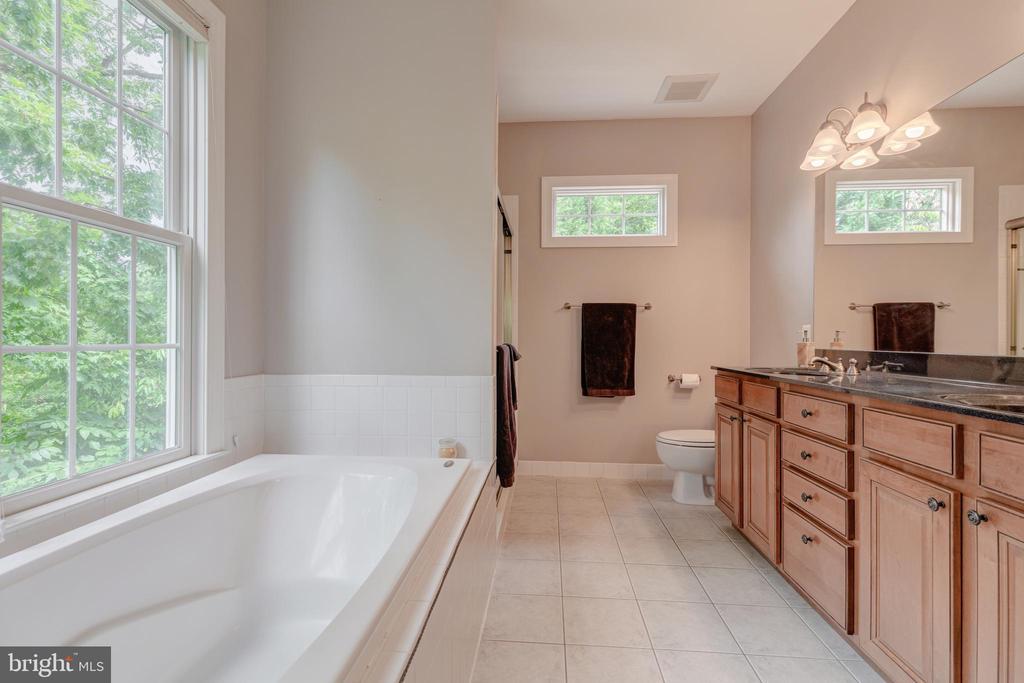 Master bath with Jacuzzi soaking tub - 5621 GLENWOOD DR, ALEXANDRIA