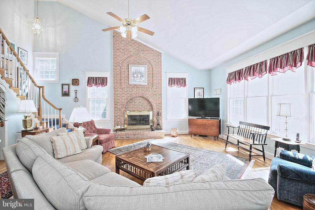 Family Room with Wood Burning  Fireplace - 10121 COMMUNITY LN, FAIRFAX STATION