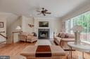 Great room with fireplace - 5621 GLENWOOD DR, ALEXANDRIA