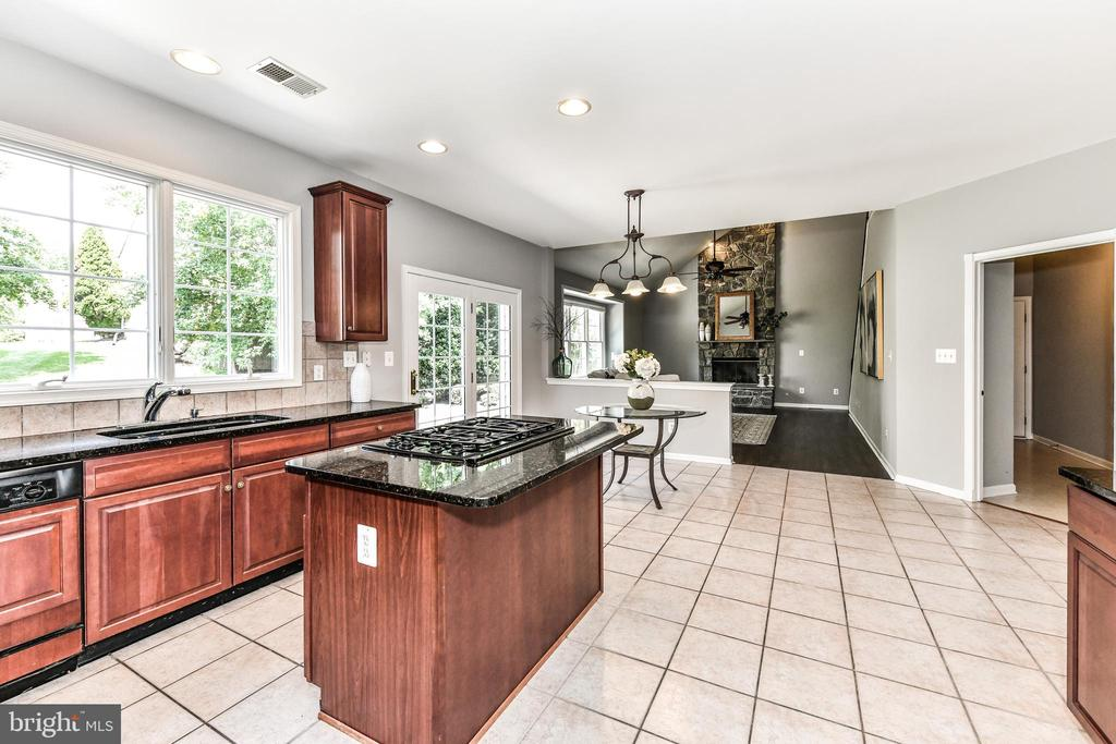 Open layout from kitchen to family room - 47426 RIVERBANK FOREST PL, STERLING