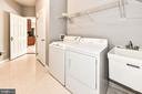 Laundry on main level with garage access - 47426 RIVERBANK FOREST PL, STERLING