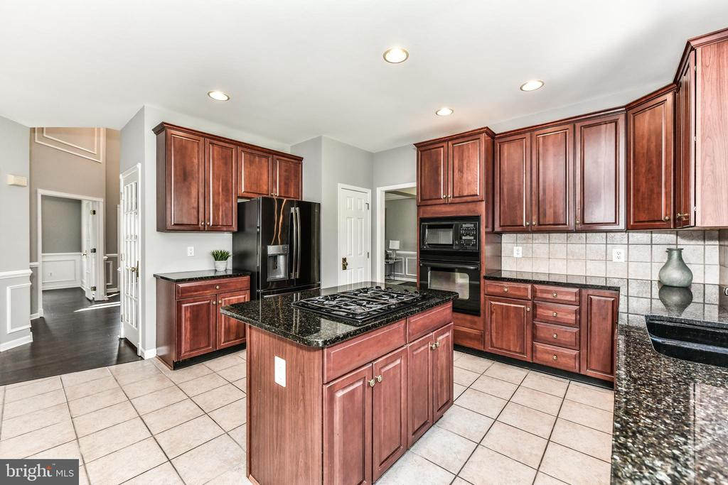 Kitchen offers granite with lots of cabinet space - 47426 RIVERBANK FOREST PL, STERLING
